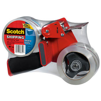 Scotch Heavy-Duty Shipping Packing Tape with Dispenser, 2 Rolls
