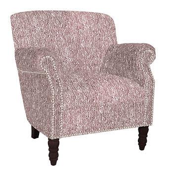 angelo:HOME Carissa Chair - Lilac Purple/Herringbone