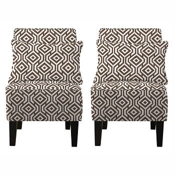 angelo:HOME Jules Linen Chair, Set of 2 - Candy Bar Brown