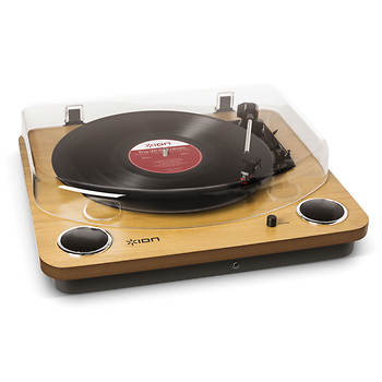 ION Max LP All-In-One Turntable with Built-In Stereo Speakers