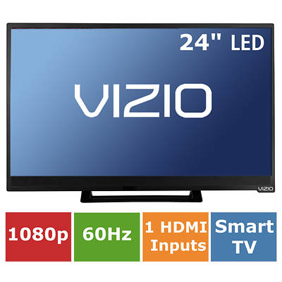 "Vizio E-Series 24"" Edge-Lit Razor LED Smart TV 1080p 60Hz with VIZIO Internet Apps Plus"