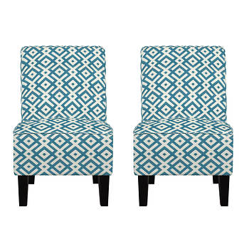 angelo:HOME Jules Chair, Set of 2 - Cooper Station Ocean Blue