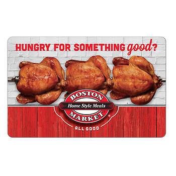 $25 Boston Market Gift Card, 2 pk.