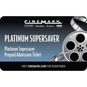 Cinemark USA Platinum Supersaver Prepaid Admission Ticket, 2 pk.