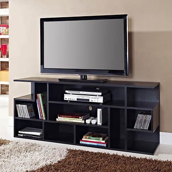 "Walker Edison 60"" Wood Entertainment Center - Black"