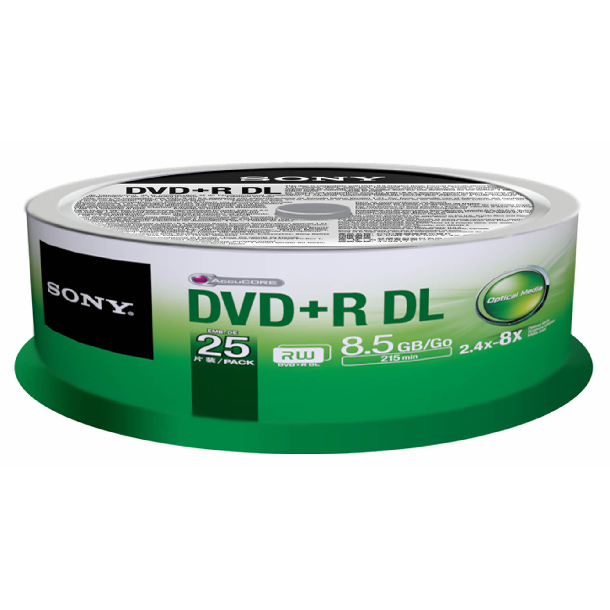 sony dvd r dual layer recordable blank discs 25 pk bj. Black Bedroom Furniture Sets. Home Design Ideas