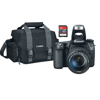 Canon EOS 70D 20.2MP CMOS DSLR Wi-Fi Camera with 18-135 Lens, 32GB SDHC Card, Case