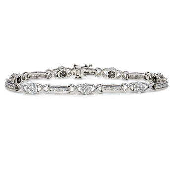 2.00 Carat Diamond Tennis Bracelet in 14k White Gold