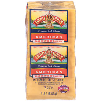 Land O'Lakes Yellow American Cheese Slices, 3 lbs.