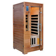 Luxe 1-Person Hemlock Infrared Sauna with 5 Carbon Heaters