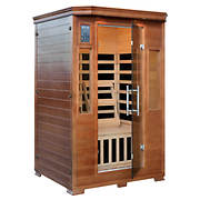 Luxe 2-Person Hemlock Infrared Sauna with 6 Carbon Heaters