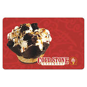 $10 Cold Stone Creamery Gift Card, 5 pk.