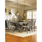 powell turino 7 pc dining set gray - Dining Room Items