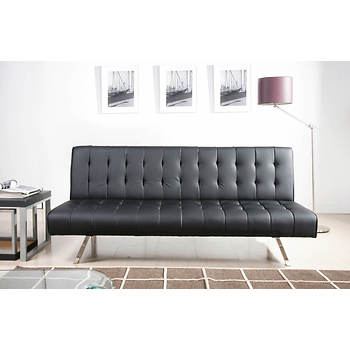 Abbyson Living Mia Futon Sleeper Sofa - Black