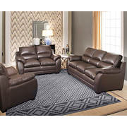 Abbyson Living Bailey 3-Pc. Seating Set - Brown