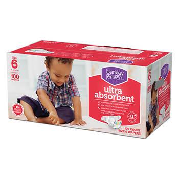 Berkley Jensen Size 6 Baby Diapers, 100 ct.