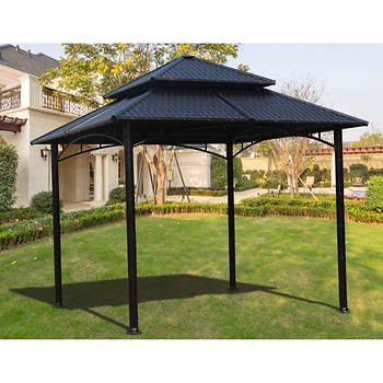 Sunjoy Cascade Hard Top Gazebo - Black
