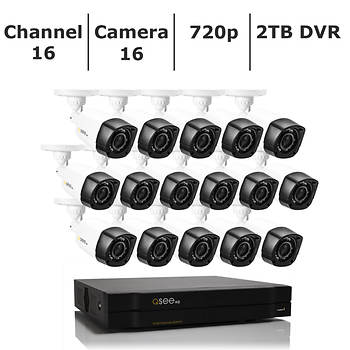 Q-See 16-Channel 16-Camera 720p Security System with 2TB HDD HD DVR