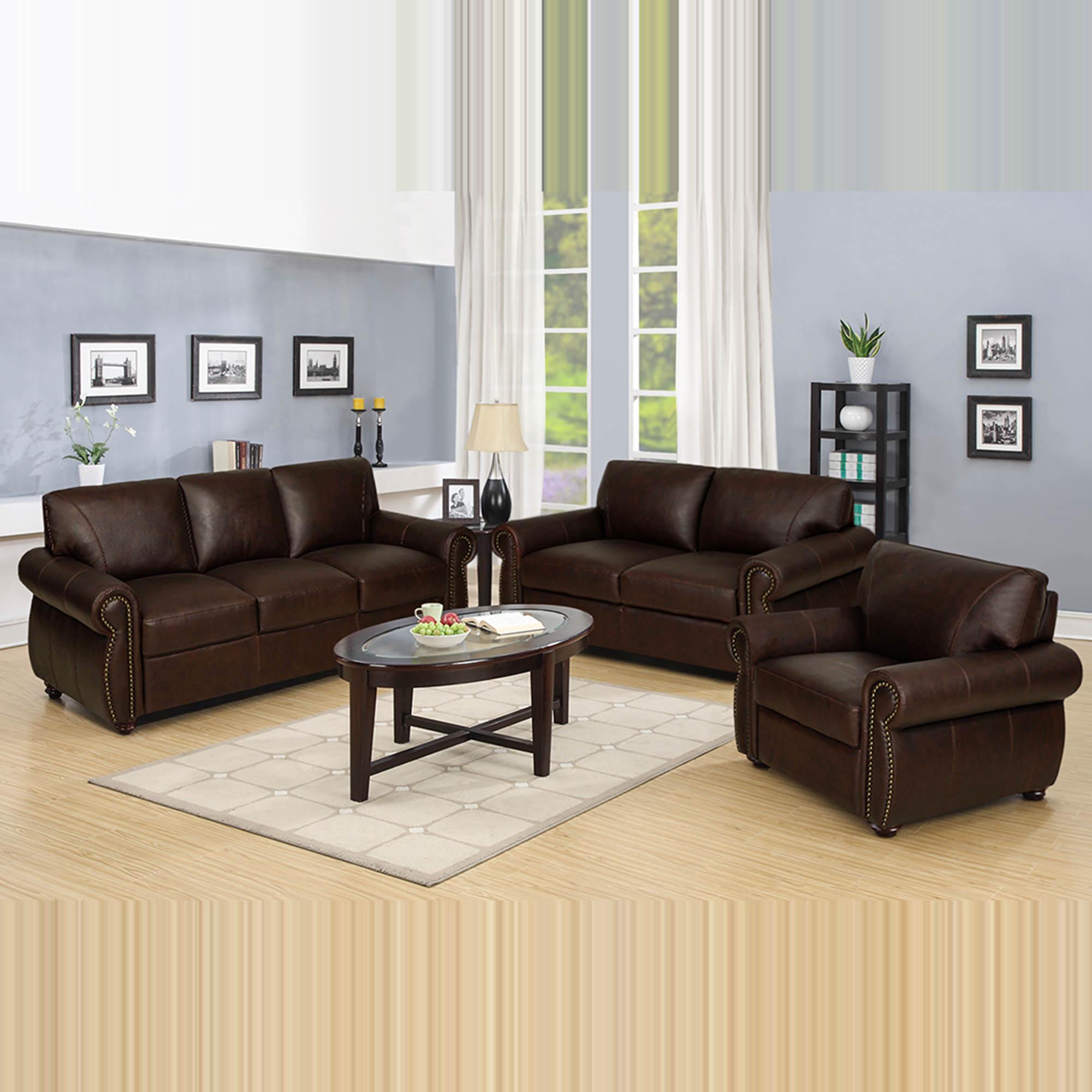 Chocolate Brown Living Room Set