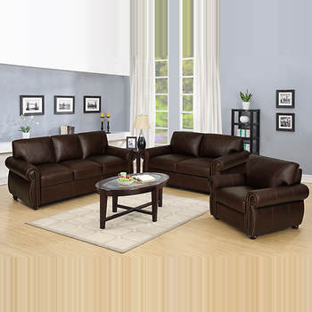 West Hampton Augustine 3-Pc. Living Room Set - Chocolate Brown