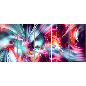 "Design Art ""Take Me Over"" 5-Pc. Extra Large Digital Canvas Print, 60"" x 28"""