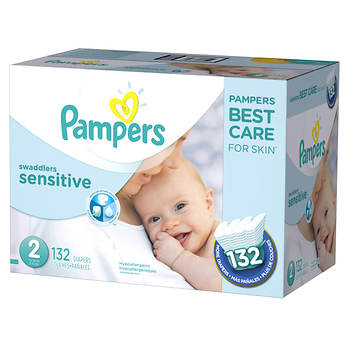 Pampers Swaddlers Sensitive Size 2 Diapers, 132 ct.
