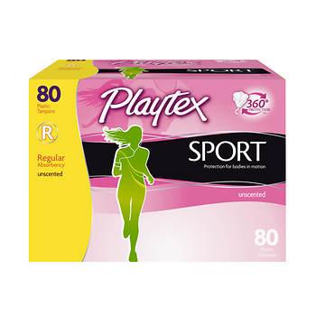 Playtex Sport Regular Tampons, 80 ct.