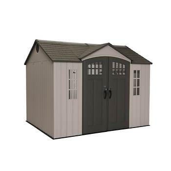 Lifetime 10' x 8' Garden Building with Bonus Accessory Kit - Brown/Tan
