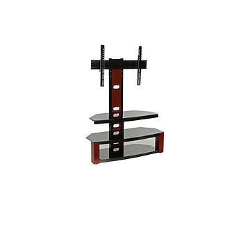 Z-Line Elias Flat Panel TV Stand with Integrated Mount, Black/Cherry