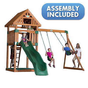 Backyard Discovery Trek All Cedar Swing Set - Assembly Included