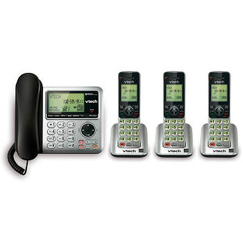 VTech DECT 6.0 4-Handset Corded/Cordless Phone with Digital Answering System