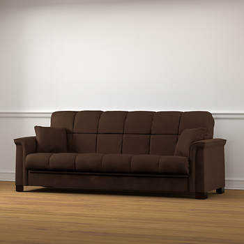 Handy Living Caroline Convert-A-Couch Sleeper Sofa - Brown