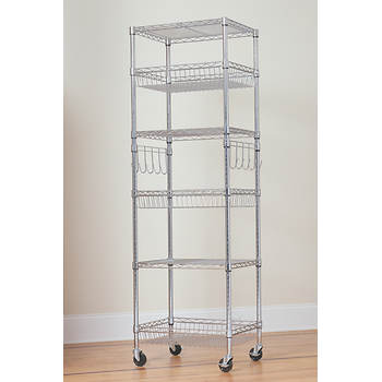 "Berkley Jensen 24"" 6-Shelf Chrome Rack"