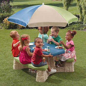 Step2 Outdoor Picnic Table with Umbrella