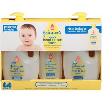 Johnson's Baby Head-to-Toe Wash, 3-Pk