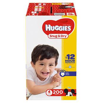 Huggies Snug & Dry Step 4 Diapers, 200 ct.