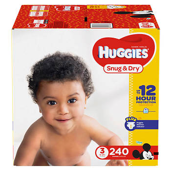 Huggies Snug & Dry Step 3 Diapers, 240 ct.