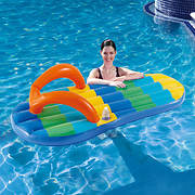 Blue Wave Beach Striped Inflatable Flip Flop Float
