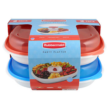 Rubbermaid Party Platter, 2 pk.