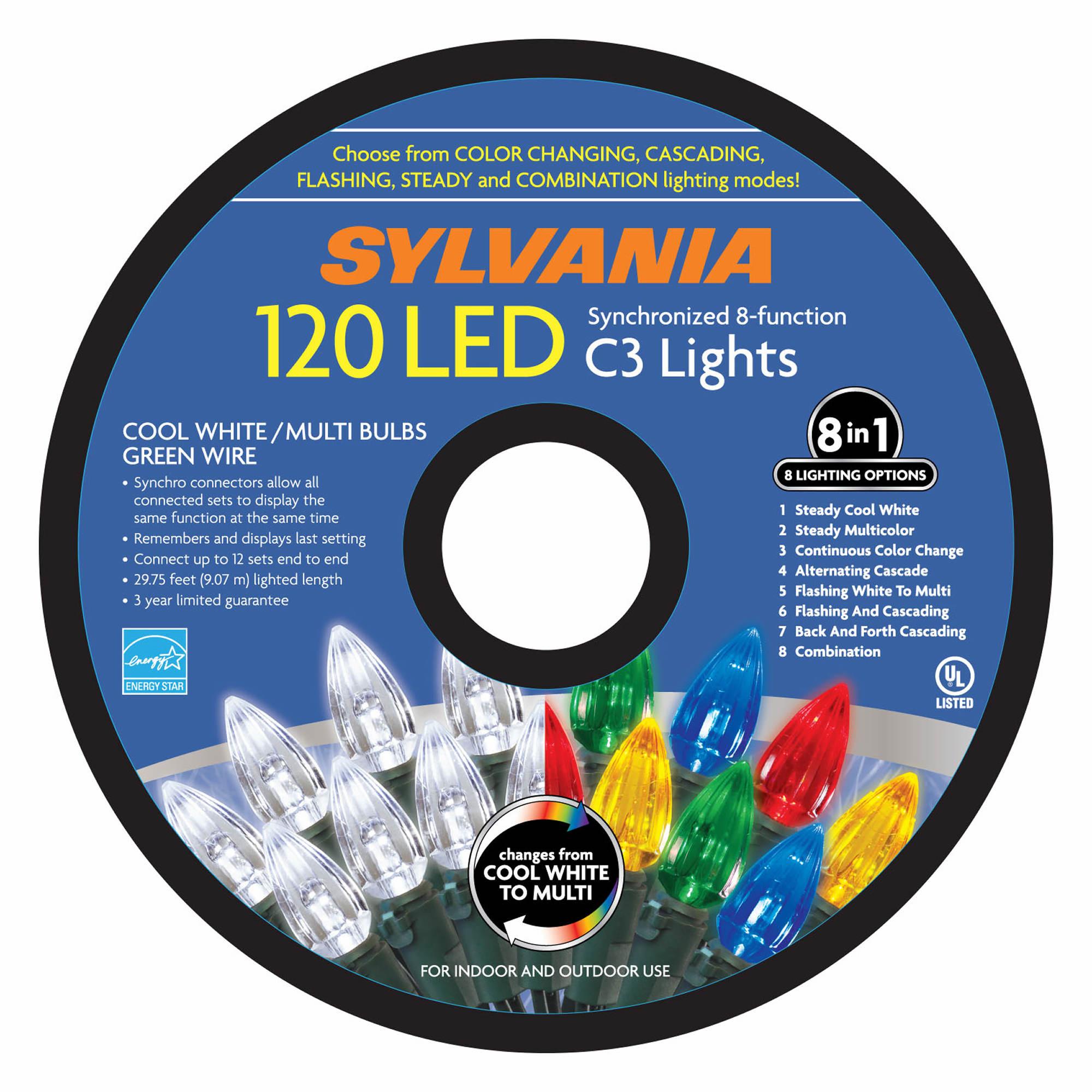 sylvania 8 function led lights 120 ct bj 39 s wholesale club. Black Bedroom Furniture Sets. Home Design Ideas