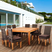 Amazonia Griffon 9-Pc. Teak/Wicker Dining Set