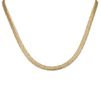 14k Yellow Gold Interlocking Mesh C Necklace