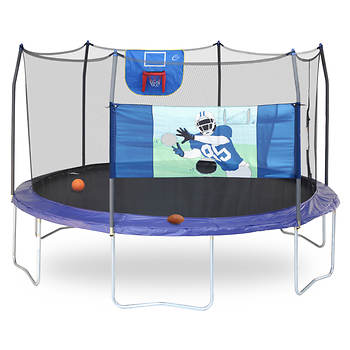 Skywalker Trampolines 15' Round Trampoline Sports Arena with Enclosure - Professional Edition