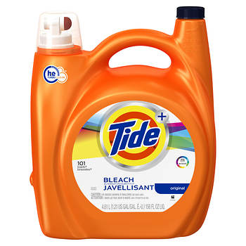 Tide Plus Bleach Alternative HE High Efficiency Original Liquid Laundry Detergent, 156 oz.
