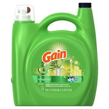Gain HE High Efficiency Original Liquid Laundry Detergent, 225 oz.