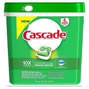 Cascade ActionPacs Fresh Scent Dishwasher Detergent, 105 ct.
