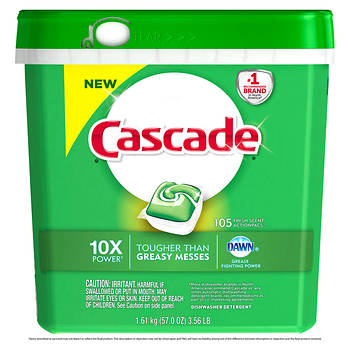Cascade Action Pacs Dishwasher Detergent, Fresh Scent, 105 ct.