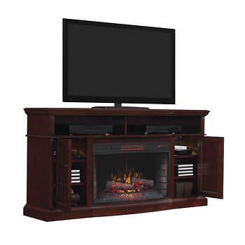 Chimney Free Media Mantel Electric Fireplace - Black Walnut