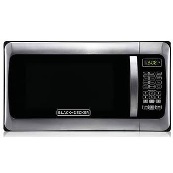 Black & Decker 1.1-Cu.-Ft. 1,000W Microwave - Stainless Steel