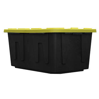 Creative Plastic 27-Gal. Heavy-Duty Tote with Lid